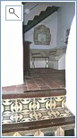 Antique Tiled stairs upto Living Room