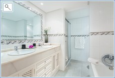 On of two bathrooms both same with Bath  Shower Unit  WC