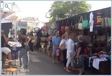 Small part of Puero Banus Saturday Market at Centro Plaza