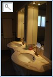 Twin vanity basins in Master suite