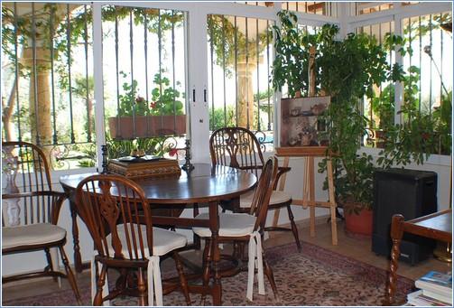 Dining room looking onto garden