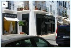 Designer shops at Puerto Banus