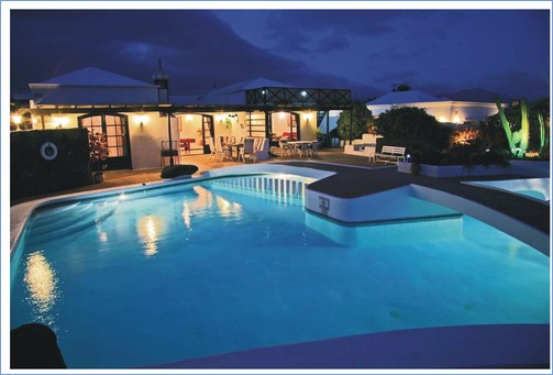 The beautiful pool at night