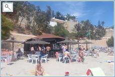The beach bar at Cabo Roig. 10 minute walk away.