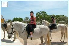 Horse riding lessons at La Roufette.