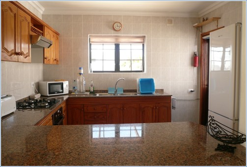 Large well equipped kitchen and breakfast bar