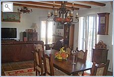 Dining room and sitting room.