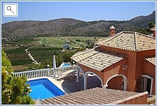 View of Villa and Golf course.
