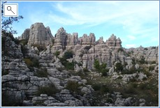 The spectacular rock formations at El Torcal