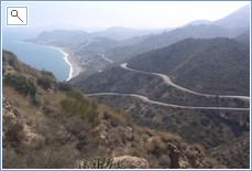 winding road to Carbonares a 20 minute drive away, stunning.