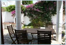 Rear dining terrace