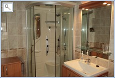 Spacious family shower room on first floor