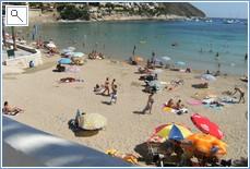 El Portet beach just 3 minutes walk from the Villa