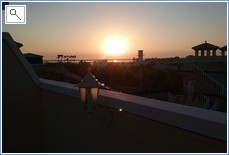 Sun rise on the roof terrace December!