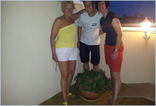 A summer evening on the solarium eating Alfresco!