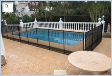 Pool - Showing the Optional Childproof Safety Fence