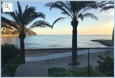 Local El Portet Beach taken from Manet hotel  bar terrace