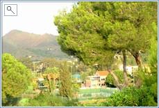 Views from the villa over La Manga Tennis Centre
