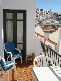 Private balcony with view of town