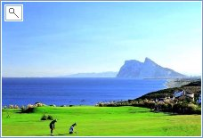 Alcaidesa Golf towards Gibraltar