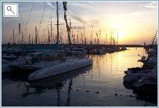 Rubicon Marina at Sunset